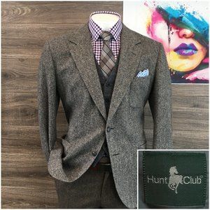 Vintage Donegal Tweed Wool Sport Coat 2 Button Jac
